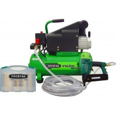 Vigon 120 Compressor, 2XR-ES40 Stapler, hose, and 15mm to 40mm fixings package